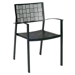 New Century Stacking Patio Dining Chair with Cushion (Set of 2)