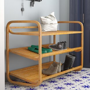 3 Tier 12 Pair Stackable Shoe Rack By Zipcode Design