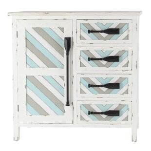 Duxbury Coastal 1 Door Accent Cabinet with Oar Handles by Rosecliff Heights