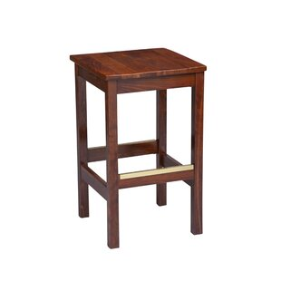 Amoroso Beechwood Square Backless Wood Seat Bar Stool