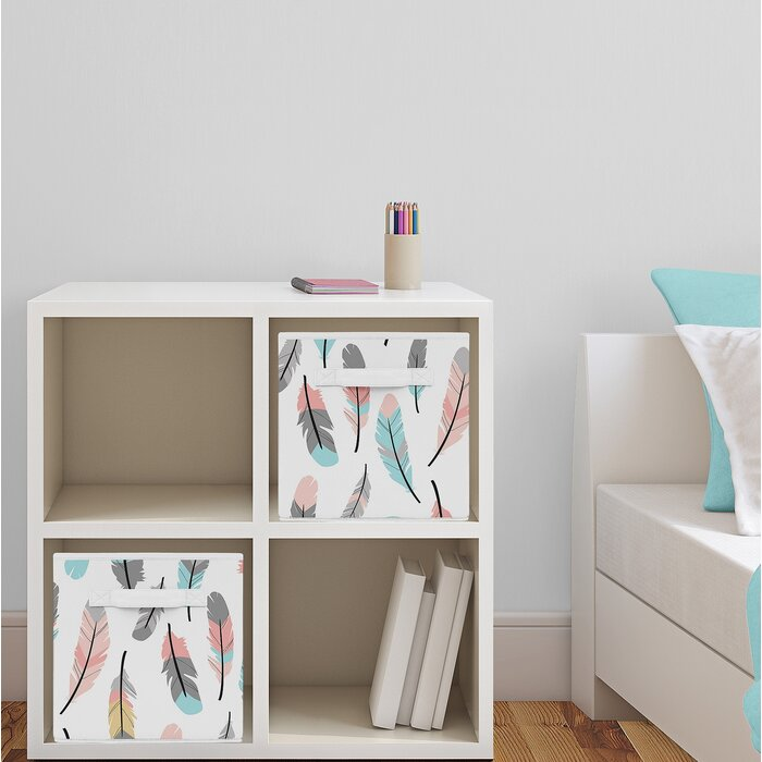 Feather Fabric Storage Cube