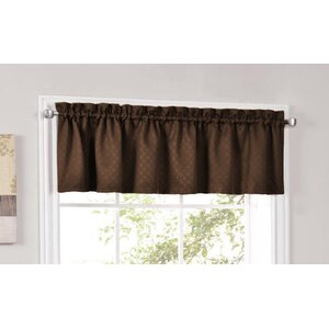 Facets Blackout Insulated Kitchen Curtain Valance