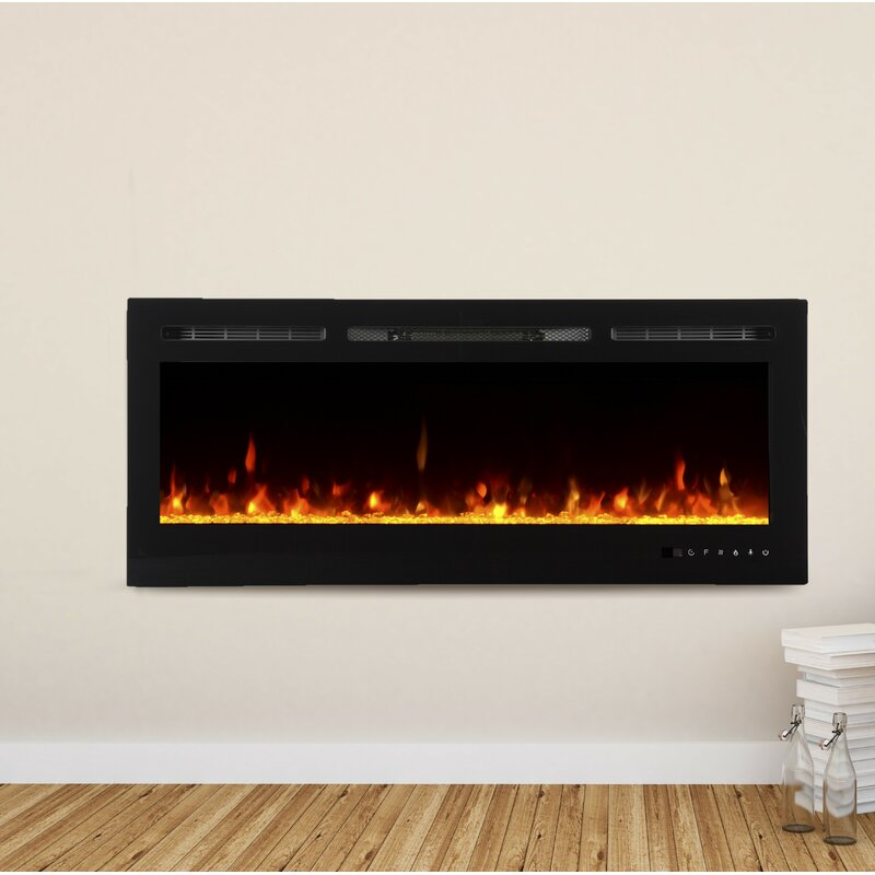 Wade Logan Bettie Recessed Wall Mounted Electric Fireplace