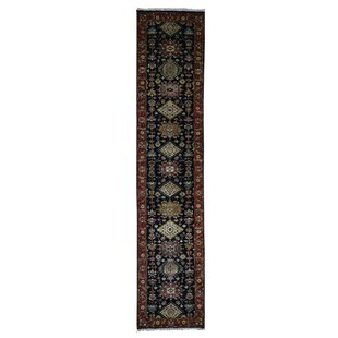 Comparison One-of-a-Kind Ballentine Hand-Knotted Black Area Rug By Isabelline