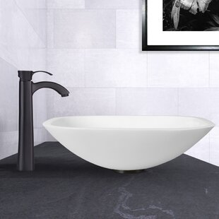 Find Phoenix Glass Square Vessel Bathroom Sink with Faucet By VIGO