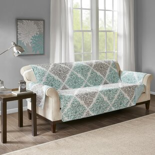 Reviews Floral Box Cushion Sofa Slipcover by August Grove Reviews (2019) & Buyer's Guide