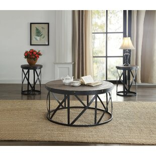 Best Reviews Balboa Metal and Wooden 3 Piece Coffee Table Set ByGracie Oaks