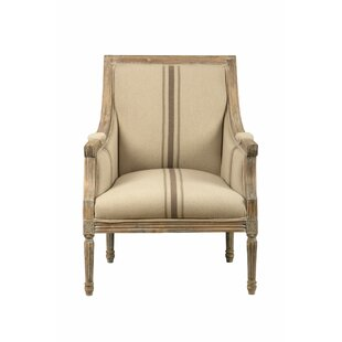 Lizeth Distressed Wooden Frame Armchair by One Allium Way
