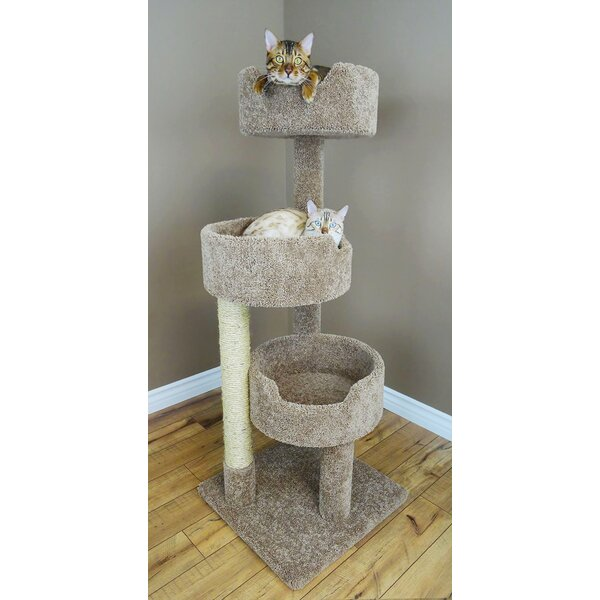 New Cat Condos 52 Quot Deluxe Cat Tree Amp Reviews Wayfair Ca