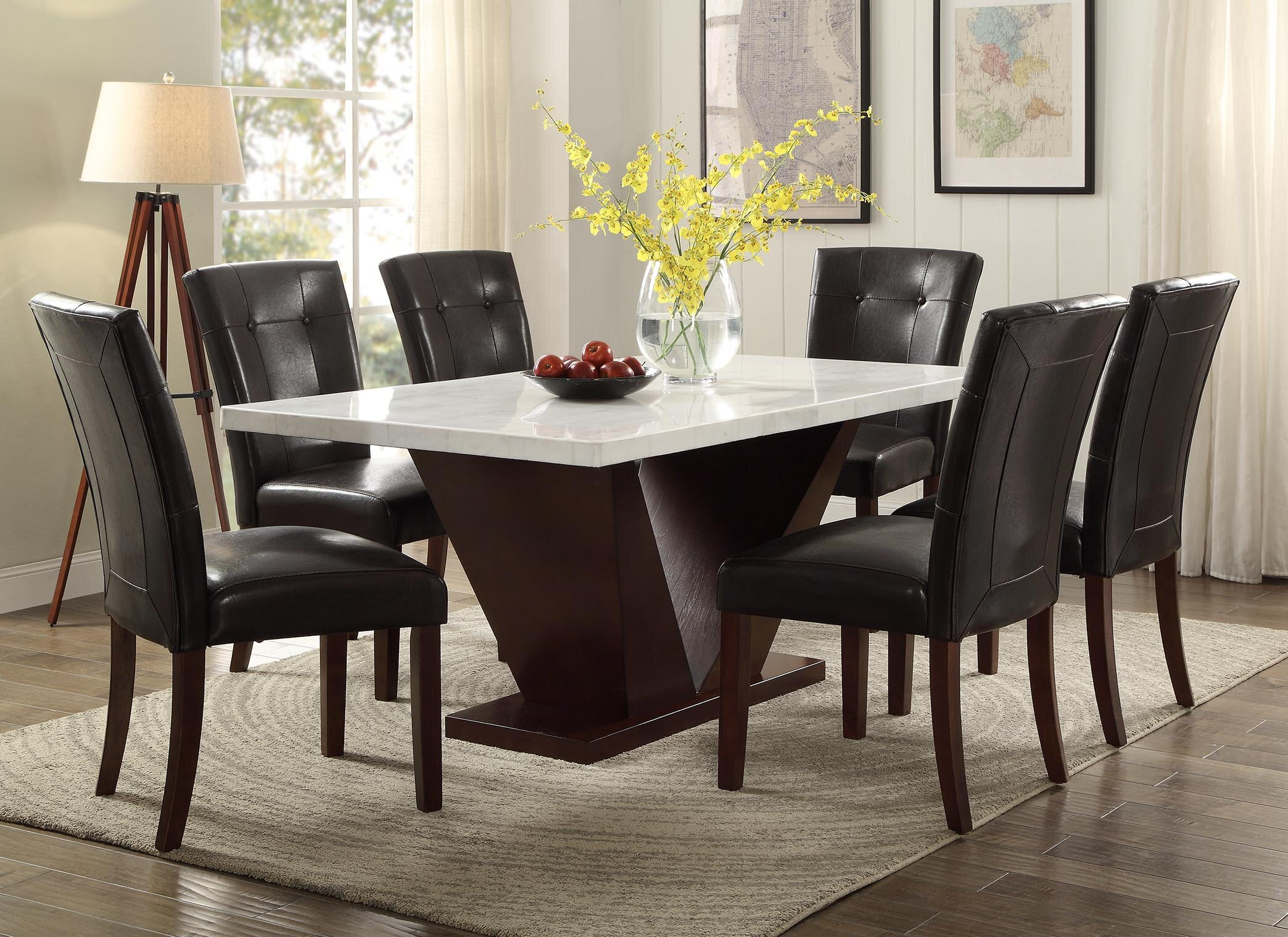 World Menagerie Philbrook Marble Dining Table | Wayfair