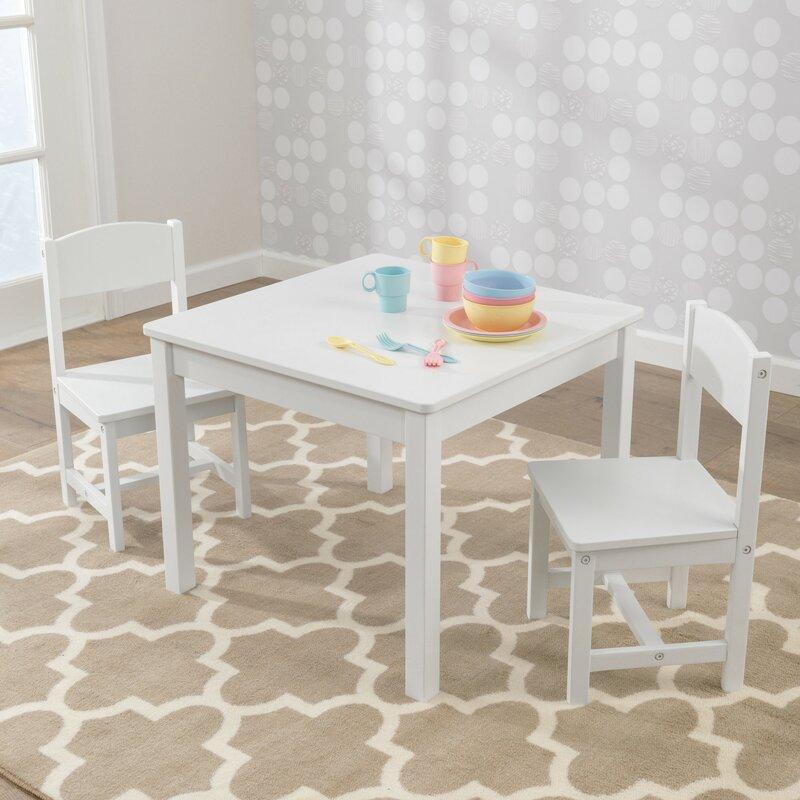 Kindertisch Stuhl kidkraft 3 tlg quadratisches kinder tisch und stuhl set