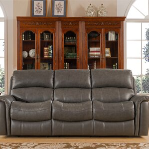 Forbes Leather Reclining Sofa by Red Barrel Studio