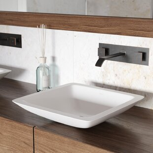 Compare VIGO Matte Stone Square Vessel Bathroom Sink with Faucet By VIGO