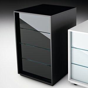 Rollcontainer Luminare mit 4 Schubladen von FIAM ITALIA