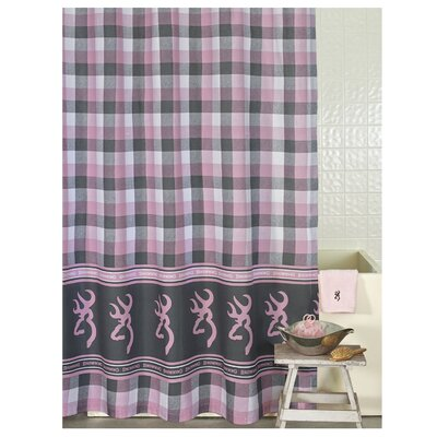 Buckmark Plaid Single Shower Curtain Browning