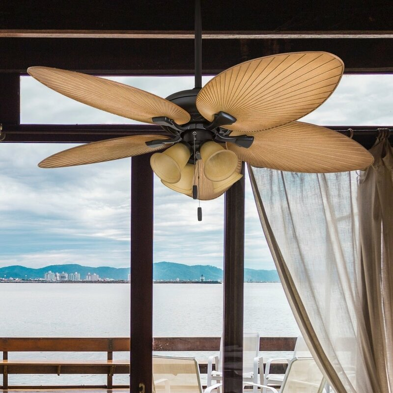 52 Mccall Tropical 5 Blade Ceiling Fan