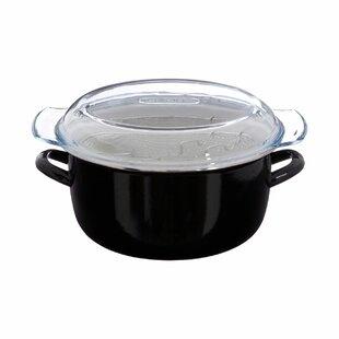 Enamel on Steel Deep Fat Fryer with Glass Pyrex Lid by Castleton Home