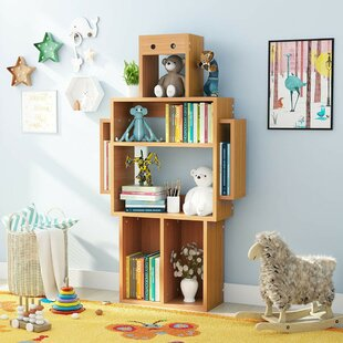 Price comparison Selvidge Robot 55 Bookcase by Harriet Bee Reviews (2019) & Buyer's Guide