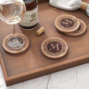 Thirstystone Absorbent Drink Coasters Monogram M