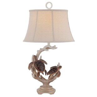 Ozias Turtle Staghorn 32 Table Lamp (Set Of 2) by Highland Dunes New Design