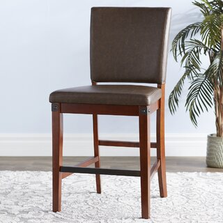 Wayland Faux Leather Upholstered Dining Chair (Set of 2) by Loon Peak SKU:DD585350 Reviews