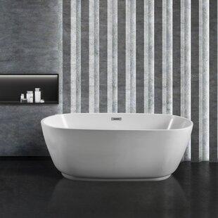 71 x 32 Freestanding Soaking Bathtub by Streamline Bath