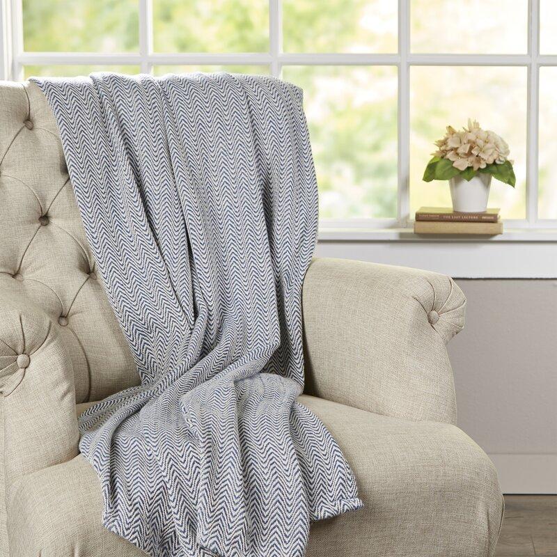 Barmeen Chevron Egyptian Quality Cotton Blanket