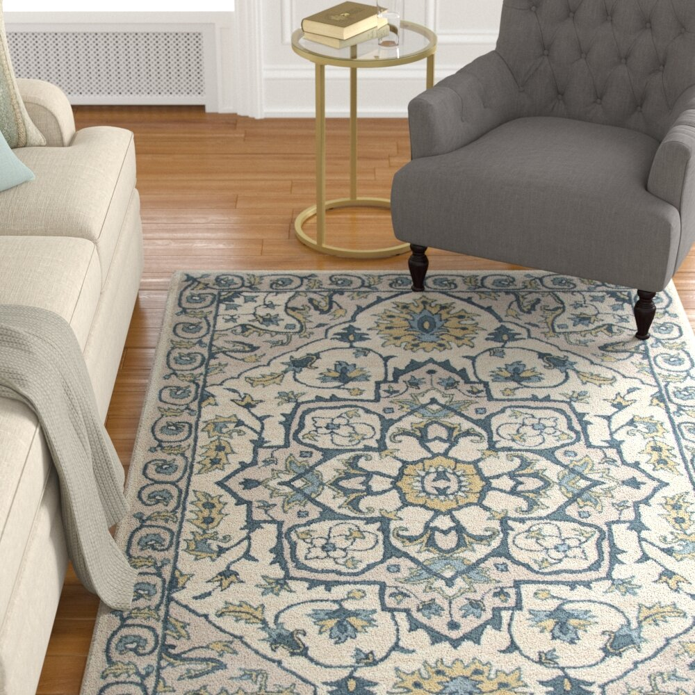Lamothe Hand Tufted Wool Rust Area Rug