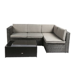 Nat 3 Piece Sofa Set with Cushions