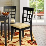 Oneill Upholstered Slat Back Side Chair in Black (Set of 2) by Andover Mills™