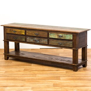 Orris 6 Drawer Bottom Shelf Console Table