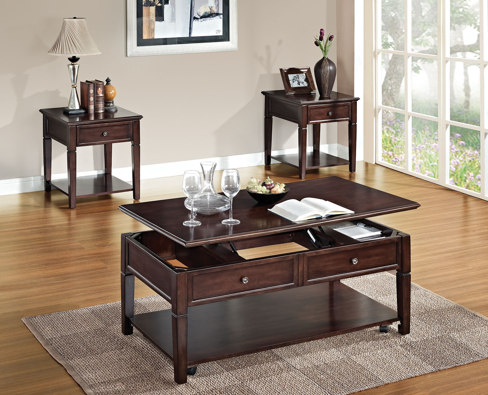 A J Homes Studio Malachi 3 Piece Coffee Table Set Reviews