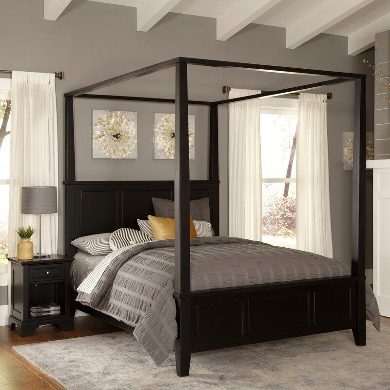 Alcott Hill Marblewood Canopy Piece Bedroom Set Reviews Wayfair