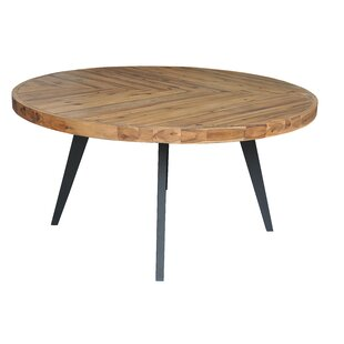 Fiskeville Acacia Round Dining Table Union Rustic
