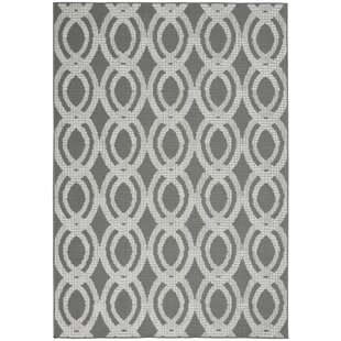 Lawanda Trellis Gray Indoor/Outdoor Area Rug