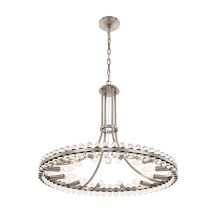 Everly Quinn Gehlert 8-Light Wagon Wheel Chandelier