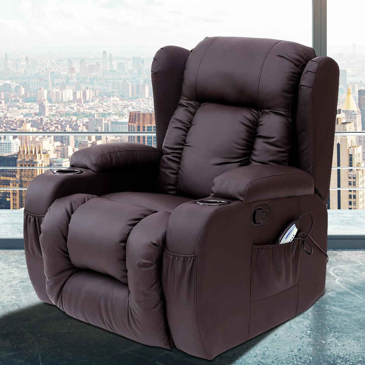 Latitude Run Idaho Reclining Heated Massage Chair Reviews Wayfair