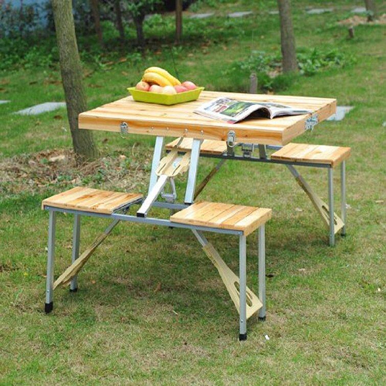 Galvan Rectangular 4 - Person 55'' Long Picnic Table