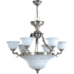 Zanin Lighting Inc. Burgos 9-Light Shaded Chandelier