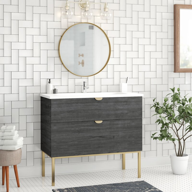 Brayden Studio Sandpipercove 40 Single Bathroom Vanity Set With Mirror Wayfair