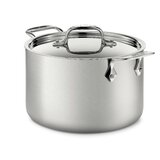 All-Clad D5 Stainless® Brushed Steel 128 Oz. Soup Pot with Lid