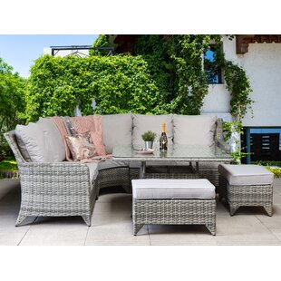 Temperence 8 Seater Rattan Corner Sofa Set By Bay Isle Home