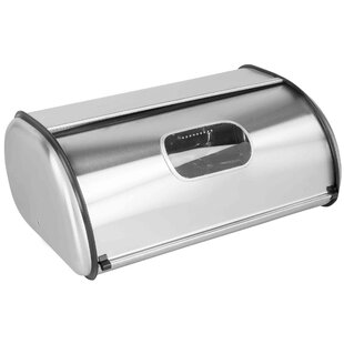 Pye Stainless Steel Roll Top Bread Box with Window