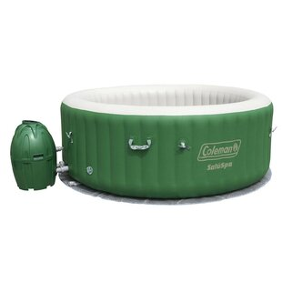 Coleman 6 - Person 60 - Jet Round Inflatable Hot Tub in Green