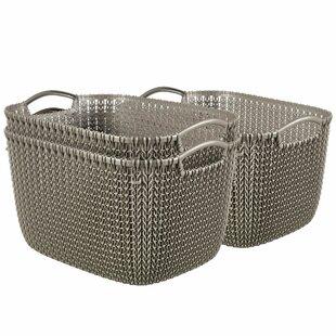 Curver Knit Plastic 3 Piece Basket Set (Set Of 3) By Symple Stuff