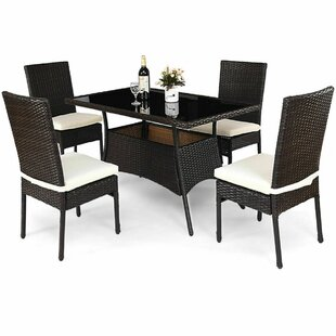 Leedom 5 Piece Dining Set with Cushions