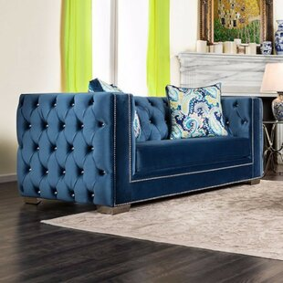 Galvez Tuxedo Inspired Loveseat by Everly Quinn