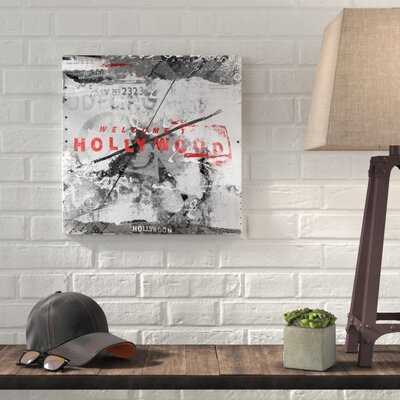 Williston Forge \'Welcome to Hollywood\' Graphic Art on Wrapped Canvas ...
