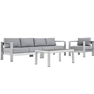 Coline 4 Piece Sofa Set with Cushions
