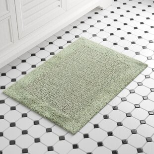 Stephon 100% Cotton Naples Spray Latex Back Bath Rug